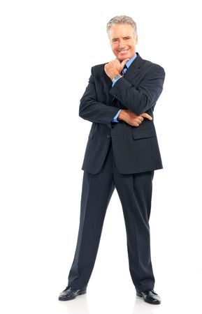 Smiling mature  businessman. Isolated over white background Stock Photo - 5662614