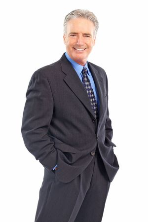 Smiling mature  businessman. Isolated over white background Stock Photo - 5662626