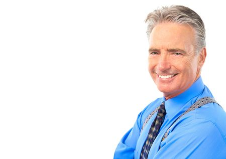 Smiling mature  businessman. Isolated over white background Stock Photo - 5830178