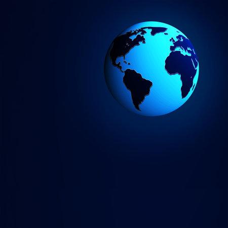 地球。暗い背景上 写真素材