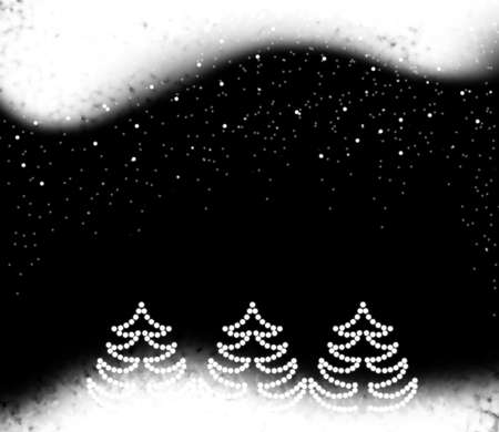 Christmas black background with snowflakes photo