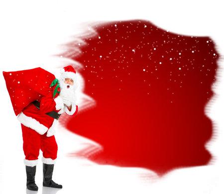 Christmas Santa. Isolated over white background photo