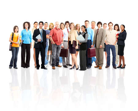 people isolated: Group of business people. Isolated over white background  Stock Photo