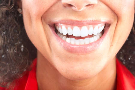 Beautiful young woman teeth. Isolated over  white background Stock Photo - 6387302