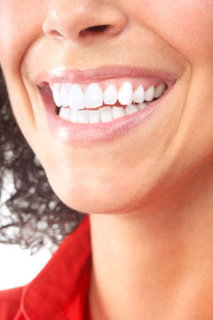 Beautiful young woman teeth. Isolated over  white background Stock Photo - 6387284