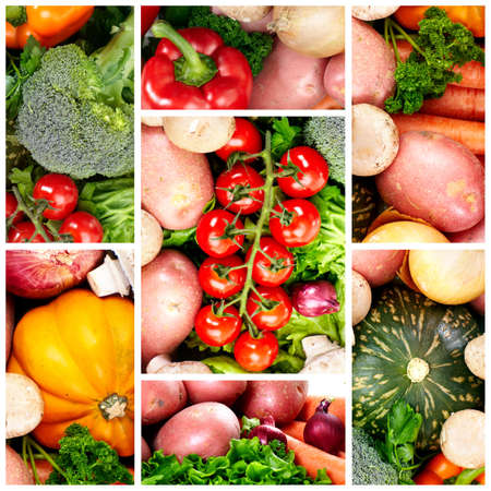 Fresh fruits and vegetables. Close up  photo