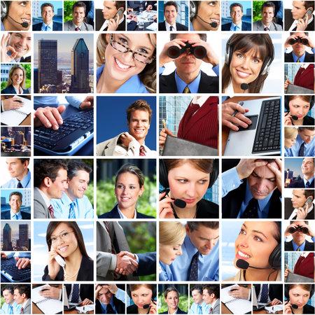 servicio al cliente: Gente de negocios. Equipo de negocios. Trabajo en equipo
