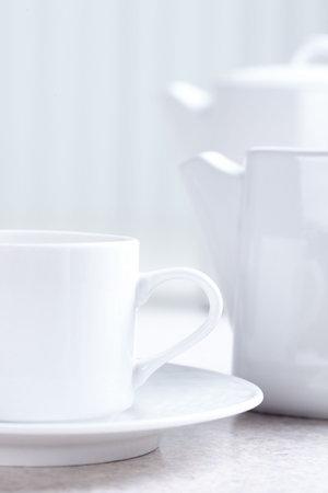 식탁, 차, 컵 스톡 콘텐츠