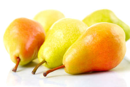 pears: Pear. Over white background  Stock Photo