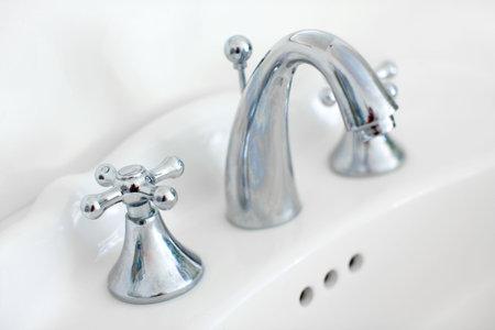White bath. Close up  photo
