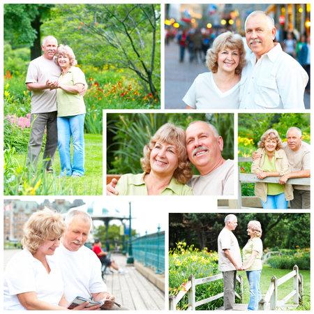 Heureux les a�n�s �g�s de couple dans le parc