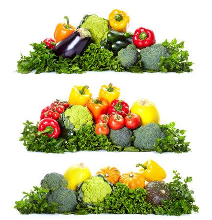 Verse groenten. Geïsoleerd via witte achtergrond