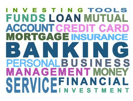 Banque. Bancaire. Argent. Personnels. Entreprise. Fond blanc Banque d'images - 6574071