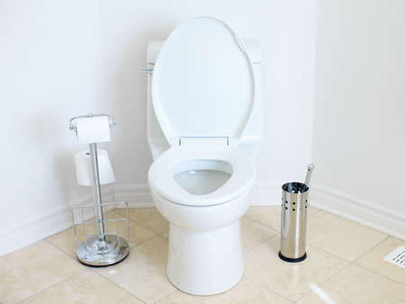 Modern flush toilet. Bathroom  photo