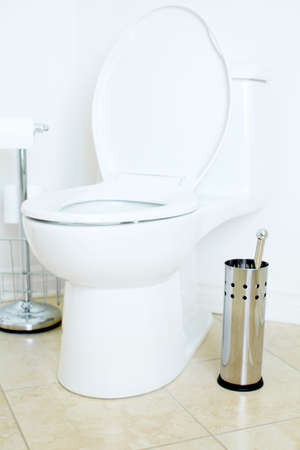 Modern flush toilet. Bathroom Stock Photo - 6669476