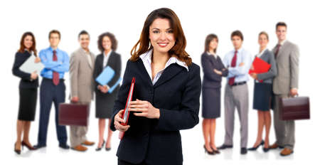 company: Group of business people. Isolated over white background