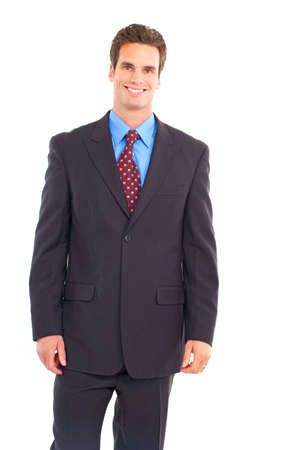 Young  smiling businessman. Isolated over white background Imagens