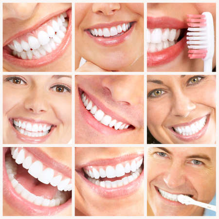 Faces of smiling people. Healthy teeth. Smile Stock Photo - 6924994