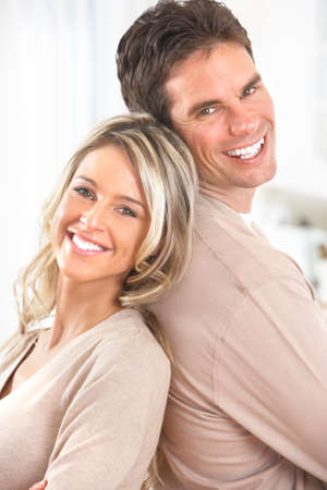 Young happy couple at home  photo