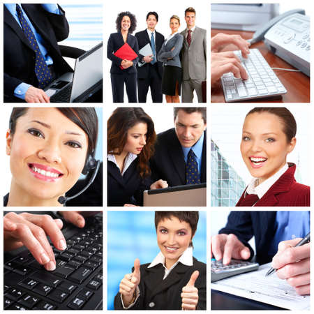 Business  people.  Businessmen and business women Stock Photo - 7038222