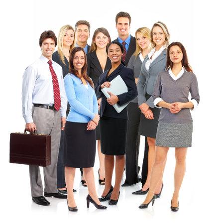 비즈니스 사람들의 그룹입니다. 흰색 배경 위에 절연