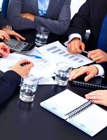 Business people team working in the office Stock Photo - 7163055