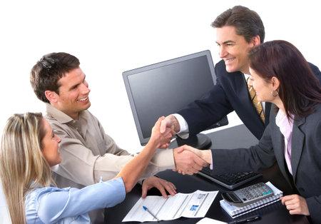 オフィスで働くビジネス人チームの笑みを浮かべてください。 写真素材 - 7159541