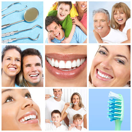 Faces of smiling people. Teeth care. Smile Stock Photo - 7317229