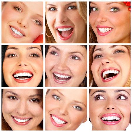 Beautiful young smiling woman.  photo