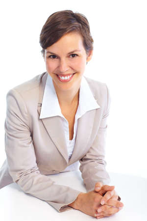 Smiling business woman. Isolated over white background Stock Photo - 7362346