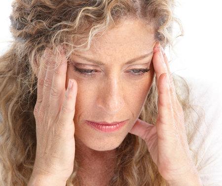 mental problems: Sick young woman. Head ache. Migraine