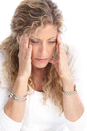 Sick young woman. Head ache. Migraine  photo