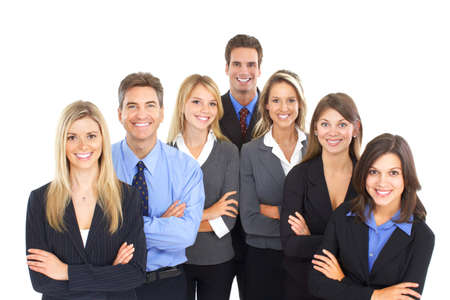 Group of business people. Isolated over white background  Stock fotó