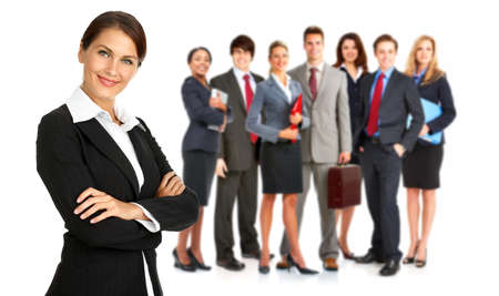 Group of business people. Isolated over white background Stock Photo - 7552661