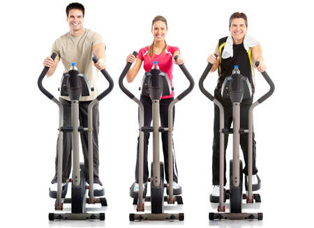 Smiling mature strong men and woman. Gym & Fitness Stock Photo - 7552660