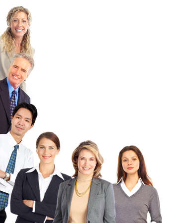 Group of business people. Isolated over white background Stock Photo - 7552772