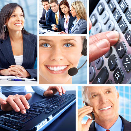 Business  people.  Businessmen and business women Stock Photo - 7566684