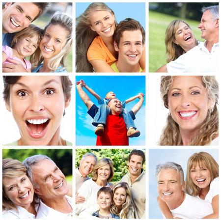 Personas felices y familias en el Parque  Foto de archivo - 7566683