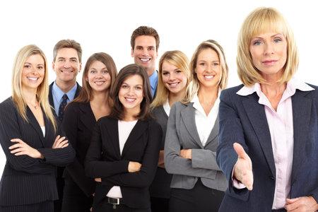 Groep van mensen uit het bedrijfsleven. Business team. Geïsoleerd op witte achtergrond