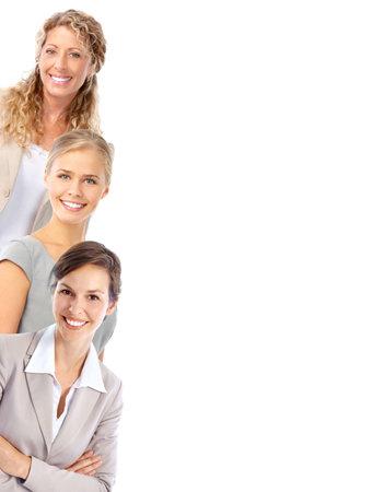 젊은 미소 비즈니스 여성. 흰색 배경 위에 절연 스톡 콘텐츠 - 7723555