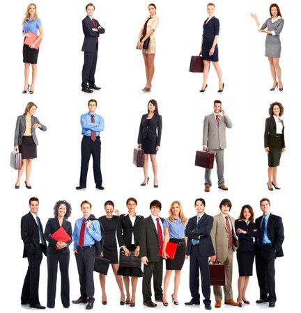 Grupo de gente de negocios. Equipo de negocios. Aislados sobre fondo blanco  Foto de archivo - 7723733