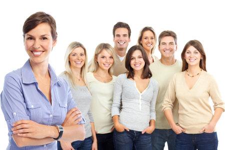 Grupo de gente de negocios. Equipo de negocios. Aislados sobre fondo blanco  Foto de archivo - 7723559