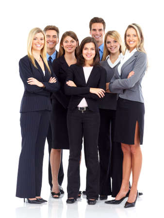 Group of business people. Business team. Isolated over white background  photo