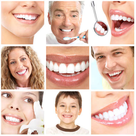 teeth whitening, tooth brushing, dental care  photo
