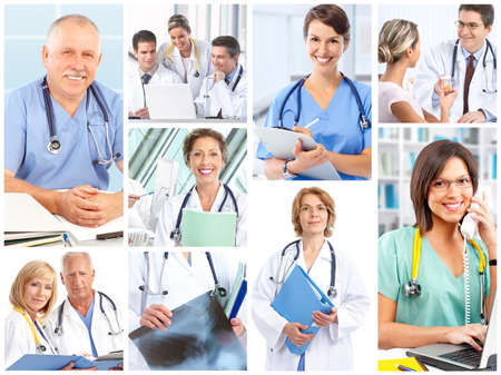 Smiling medical doctors with stethoscope. Stock Photo - 7834061