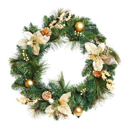 christmas gift: Christmas Tree Decoration garland. Isolated over white background