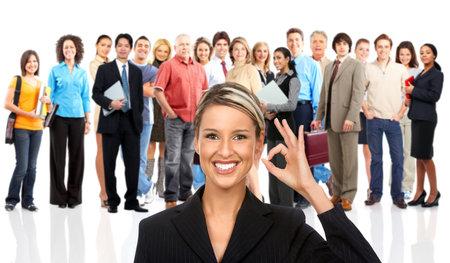 Groep van mensen uit het bedrijfsleven. Zakelijke team. Geïsoleerd op witte achtergrond
