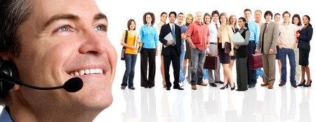 werk: Groep van mensen uit het bedrijfsleven. Zakelijke team. Geïsoleerd op witte achtergrond  Stockfoto