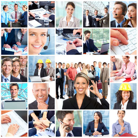 Business  people.  Businessmen and business women  photo