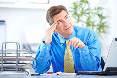businessman  having stress in the office photo